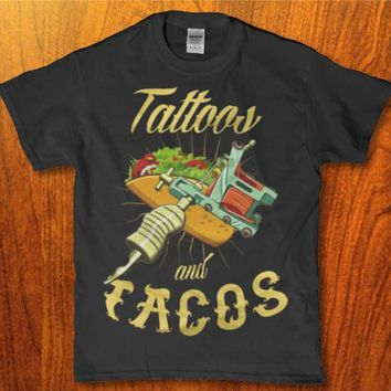Tattoos and tacos funny awesome Men's t-shirt