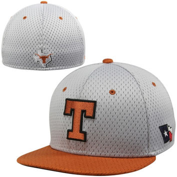 Nike Texas Longhorns True Colors Mesh Authentic Performance Fitted Hat - Gray/Burnt Orange