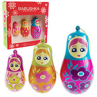 PLASTICLAND - Babushka Russian Doll Ornaments - Set of 3