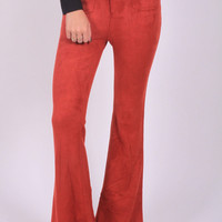 The Jackie Suede Bell Bottoms