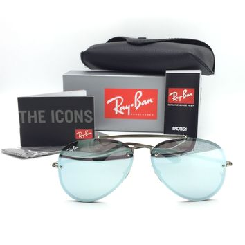 New Ray-Ban RB3584-N 9051/30 Silver Aviator Sunglasses Mirrored Silver Lens 58mm