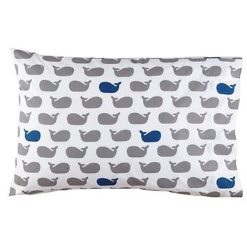 Make a Splash Whale Pillowcase in Boy Bedding | The Land of Nod