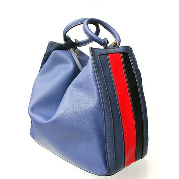Navy Leather Convertible Bag