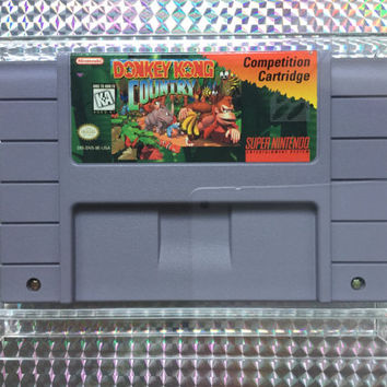 1994 Competition Cartridge Donkey Kong Country DK Nintendo Powerfest Blockbuster Video Championships II Super Nintendo SNES Rare Retro