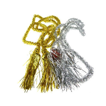 Metallic Shred Foil Tassel Cord, 86-inch