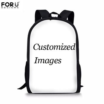 Cool Backpack school FORUDESIGNS Cool Animal Casual Children School Bags 3D Wolf Pattern Book Shoulder Bags for Teenage Boys Schoolbags Backpack Kids AT_52_3