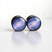 Galaxy Plugs, Space Gauges, Nerdy Gauges, Science Plugs - sizes 00, 7/16, 1/2, 9/16, 5/8, 3/4, 7/8, 1""
