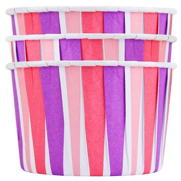 Pink & Purple Stripe Treat Cups