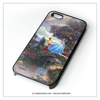 Cinderella Walt Disney Painting iPhone 4 4S 5 5S 5C 6 6 Plus , iPod 4 5  , Samsung Galaxy S3 S4 S5 Note 3 Note 4 , and HTC One X M7 M8 Case