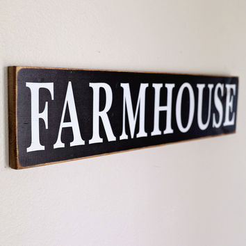 Antiqued Wooden Farmhouse Sign