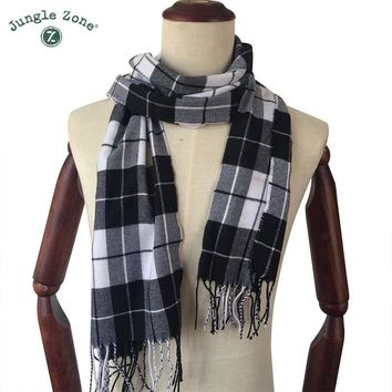 Winter Scarf 2018 Cashmere Scarf Plaid Blanket Scarf New Designer men wool plaid bandana Scarves and Wraps WJ01