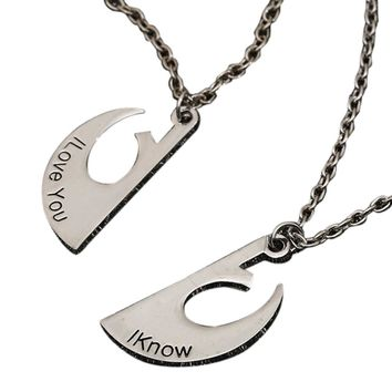 I Iove You I Know Couple Chain Necklace pendant Lover Gift Valentine's Day
