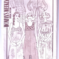 Lingerie pattern UNCUT / Slips and bedrobes / Vintage sewing pattern / Woman's Weekly B762