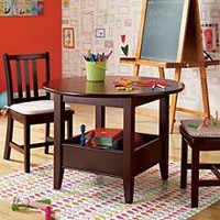 Kids' Play Tables: Kids Espresso Storage Bin Table in Play Tables