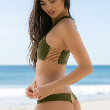 Stone Fox Swim - Byron Bottom | Olive
