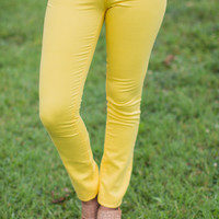Classic City Skinnies in Yellow