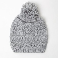 Me To We Reverse Knit Pom Beanie - Womens Hat