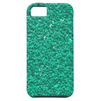 Pretty Teal Faux Glitter Texture iPhone 5 Cases