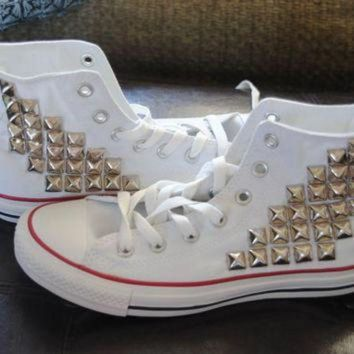DCCK1IN made to order studded high top converse by themermaidgypsy on etsy