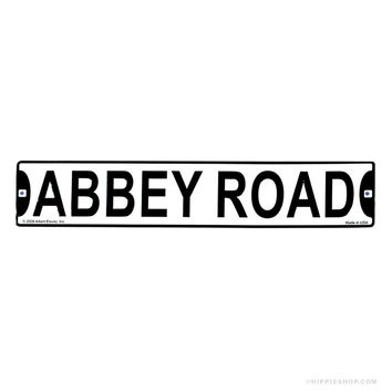 The Beatles Abbey Road Sign on Sale for $9.99 at The Hippie Shop