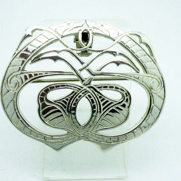 St Ninian Solid Sterling Silver Brooch, Tain Silver, CELTIC, Dougie Scott, Vintage, Jewelery, Scottish, Hallmarked Edinburgh 1996, REF:256W