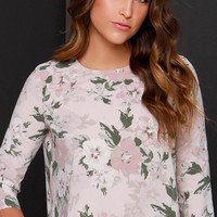 BB Dakota Parisa Blush Floral Print Top