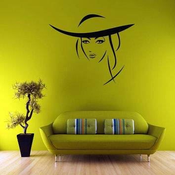 Silhouette of a girl wall decal, portrait on the wall, bathroom wall decal, sticker living room, interior design, wall paintings /i17