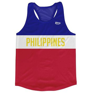 Philippines Country Finish Line Running Tank Top Racerback Track and Cross Country Singlet Jersey