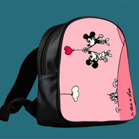 Happy Valentines Day Disney mickey minnie mouse for Backpack / Custom Bag / School Bag / Children Bag / Custom School Bag ***