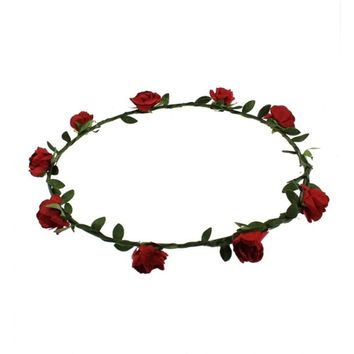 Red Rose Hair Garland | Attitude Clothing Co.