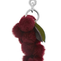Autumn Cph - Stingray-trimmed shearling keychain
