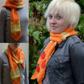 Applejack inspired Scarf - Crochet - My Little Pony