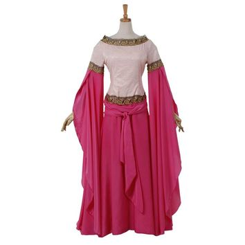Women's Fancy Medieval Dress Victorian Gothic Ball Gown Cosplay Costume Custom Made