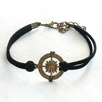 Compass bracelet Bracelet Compass charm Sports bracelet Bracelet for women Best friend gift