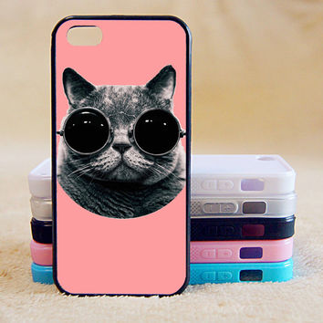 Cut Cat With Sunglasses,Custom Case, iPhone 4/4s/5/5s/5C, Samsung Galaxy S2/S3/S4/S5/Note 2/3, Htc One S/M7/M8, Moto G/X