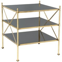 Rampart Antique Brass Accent Table
