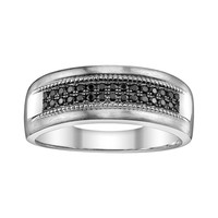 Platina 4 1/3-ct. T.W. Black Diamond Wedding Band - Men