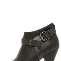 Free Reign Black Peep Toe Booties