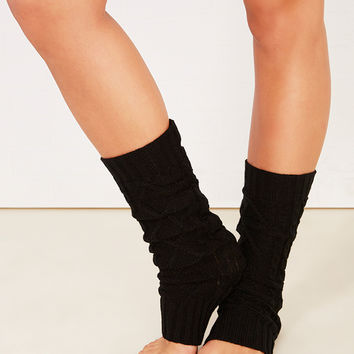Diamond Pattern Cable Knit Legwarmers | Wet Seal