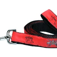 GIFTS & HOME > DOG ACCESSORIES > DOG LEASHES > PIRATE SKULL 6FT DOG LEASH