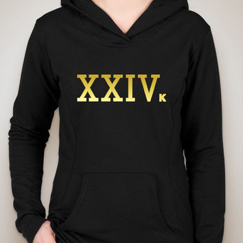 "Bruno Mars ""24k Magic - XXIVk"" Unisex Adult Hoodie Sweatshirt"
