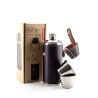 Leather Flask by Kikkerland