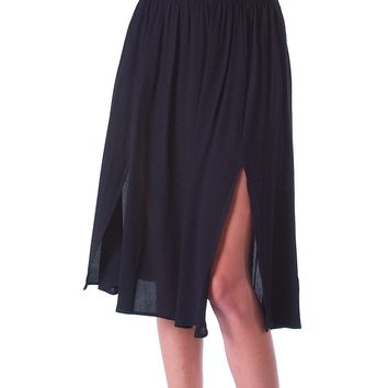 Milan Midi Skirt - Black