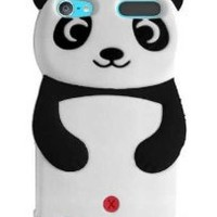 HHI Silicone Panda Case for iPod Touch 5th Generation - Black (Package include a HandHelditems Sketch Stylus Pen)