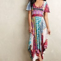 Kantha Midi Dress by Plenty by Tracy Reese Red Motif