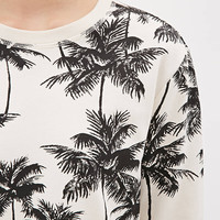 Coconut Tree Print Sweater