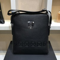 Philipp Plein Fashion Leather Men Office Bag Crossbody Shoulder Bag Satchel