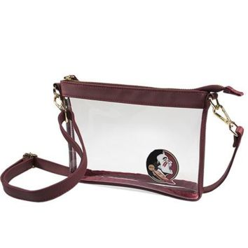 Seminole Game Day Stadium Bag-  Clear