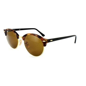 Kalete Ray-Ban Sunglasses Clubround 4246 1160 Spotted Brown Havana & Gold Brown