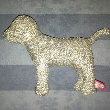 Bling Hand Jeweled gem custom Victoria Secret Dog 6 inch by 8 inch